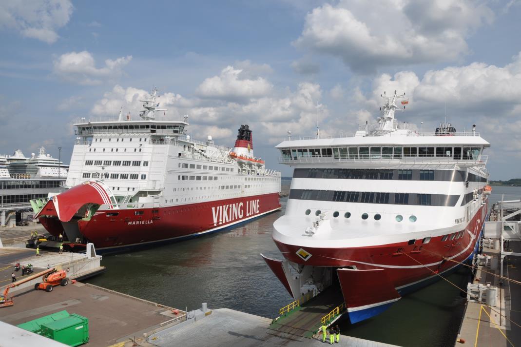 Suvehooajal suureneb Viking Line graafikus laevasõitude arv