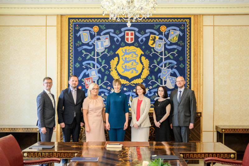 President Kersti Kaljulaid nimetas ametisse 5 kohtunikku