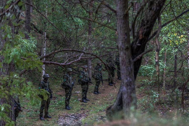 FOTOD! Staabi- ja sidepataljoni ajateenijad läbisid esimese metsalaagri
