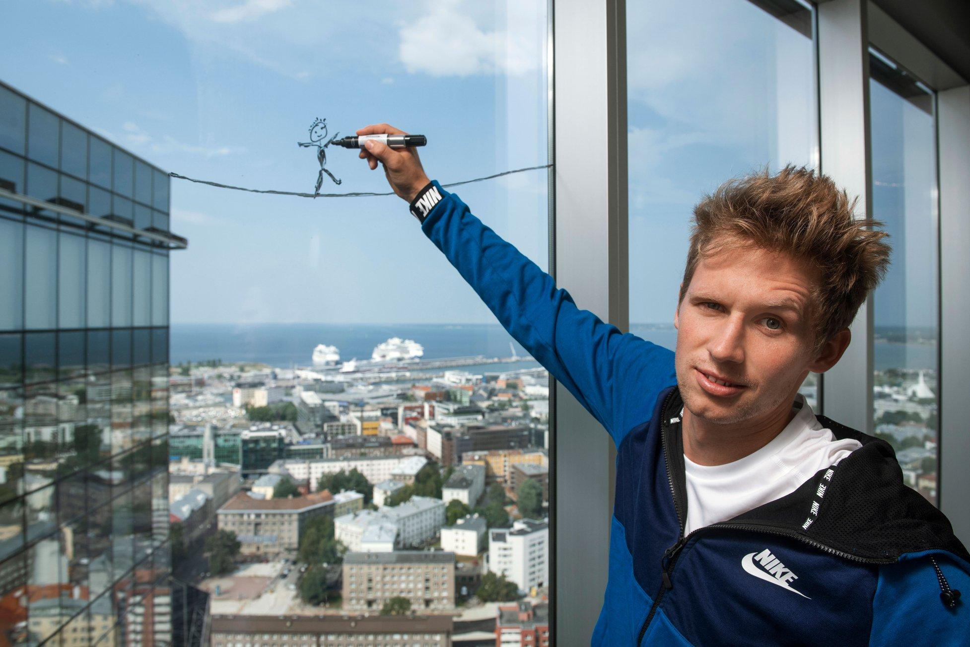 VIDEO! Slackliner Jaan Roose tegi hullumeelse maailmarekordi