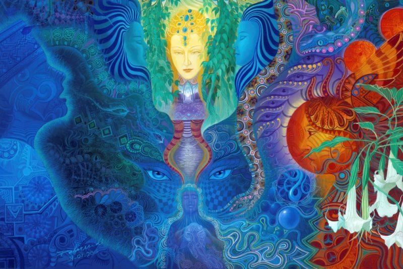 Psycherence pakub võimaluse vaadata seitset lummavat šamanistlikku maali