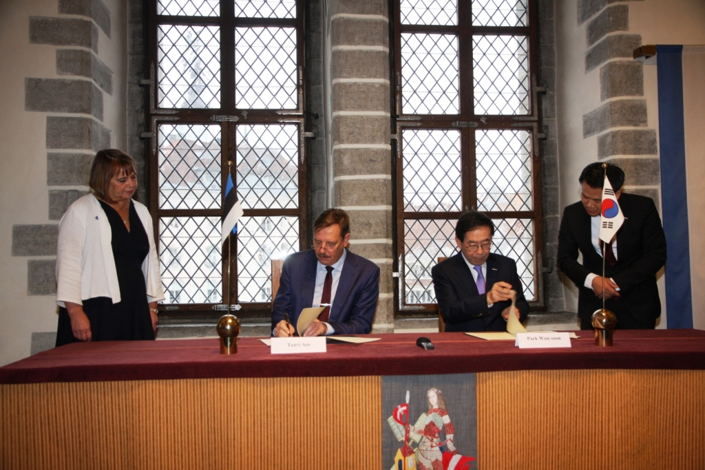Tallinna ja Souli linnapead allkirjastasid hea tahte kokkuleppe
