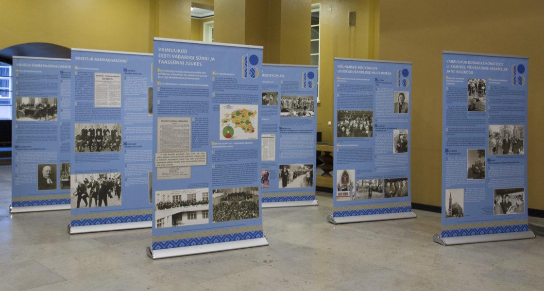 Riigikogus avatakse näitus vaimulike tegevusest Eesti Vabariigi sünni ja taassünni juures