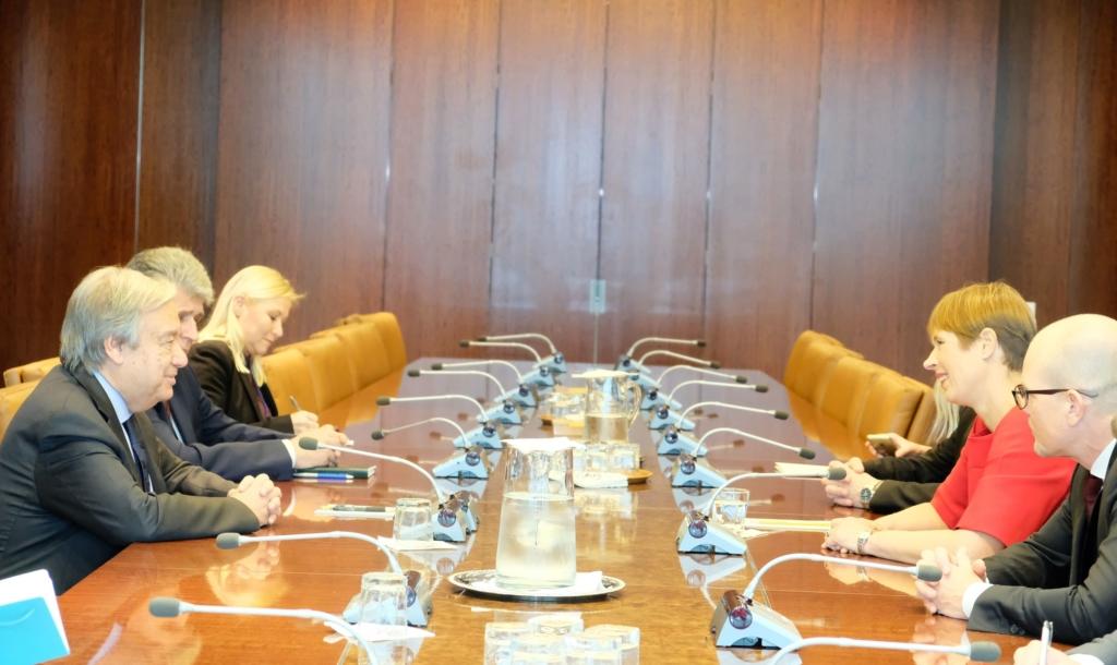 President Kersti Kaljulaid kohtus ÜRO peasekretäri António Guterresega