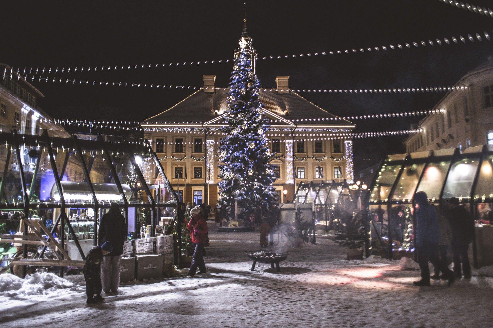 Tartu süütab täna jõulutuled Eesti suurima ühise jõulutervitusega