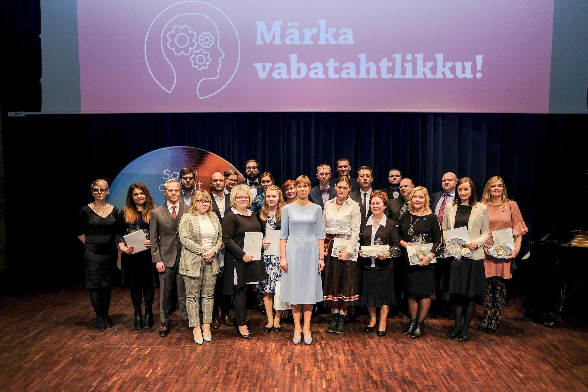 Meie au ja uhkus! President Kaljulaid tänas Jõhvis aasta vabatahtlikke