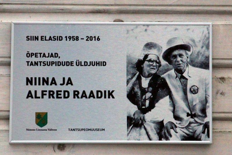 Tantsujuht Alfred Raadiku kodumajale paigaldati mälestustahvel