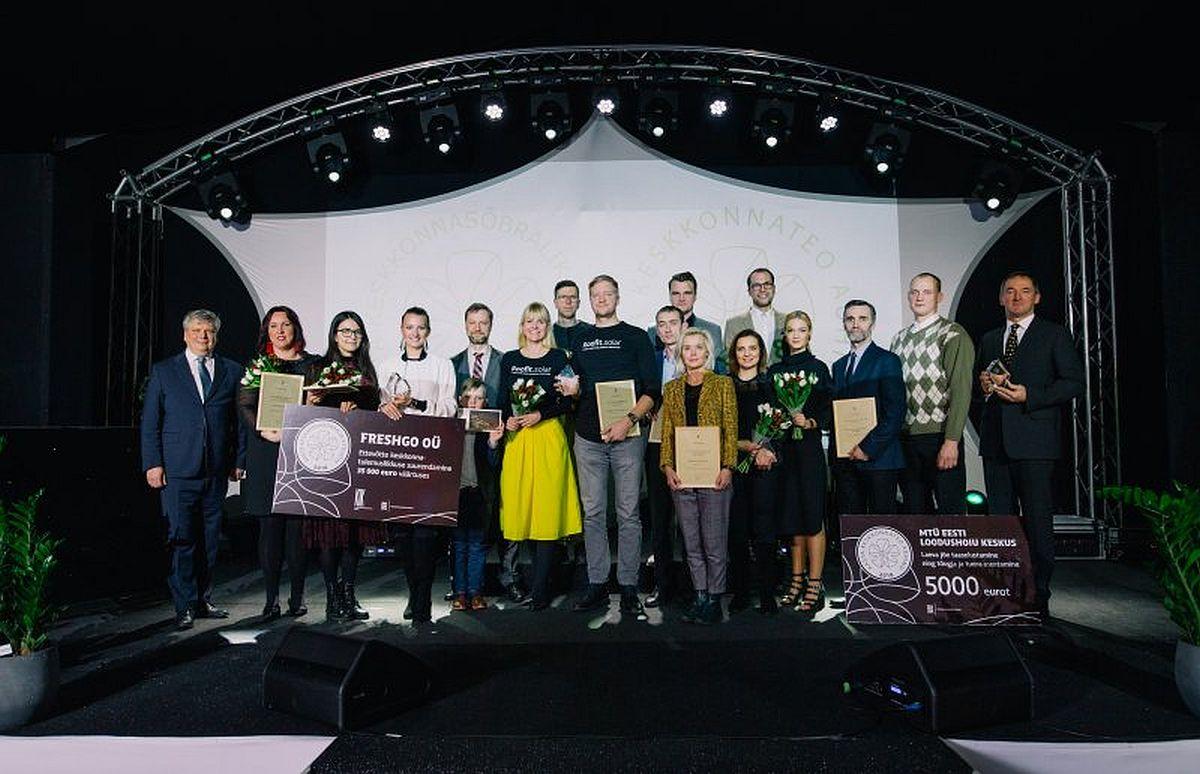 Keskkonnaminister jagas galal aasta parimatele auhindu