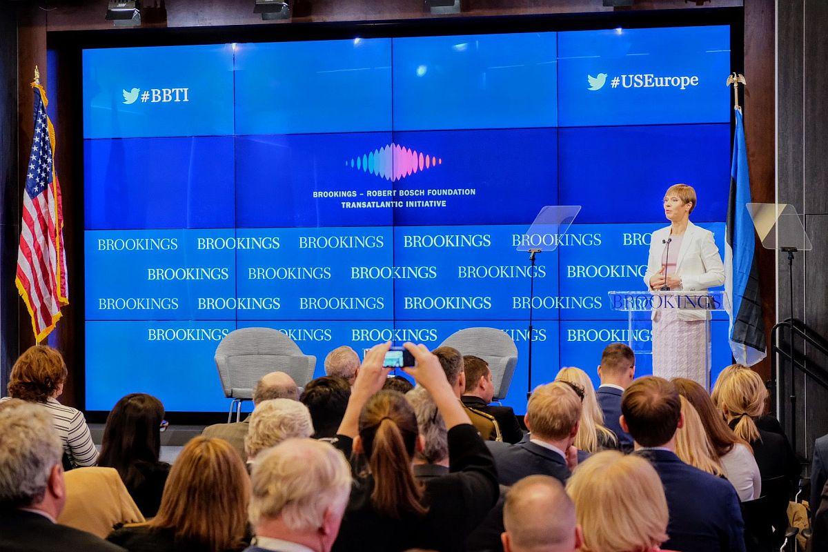 Eesti president: Ameerika ja Euroopa koostöö pole ühesuunaline tänav
