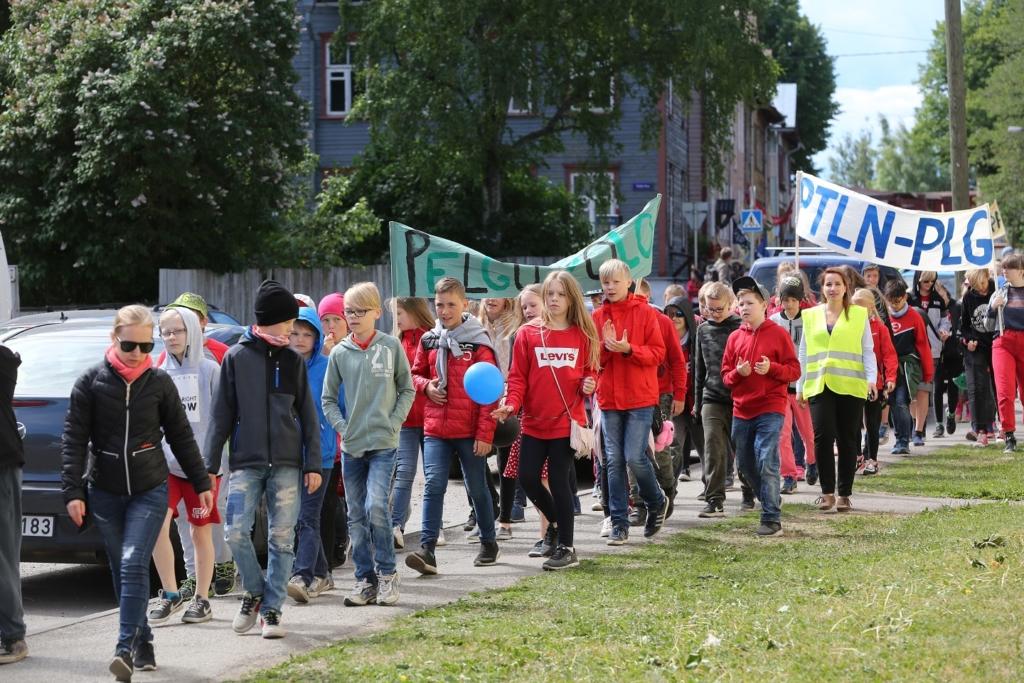 2018. aastal toimunud Põhja-Tallinna õpilaste rongkäik. Foto_Aleksandr Gužov