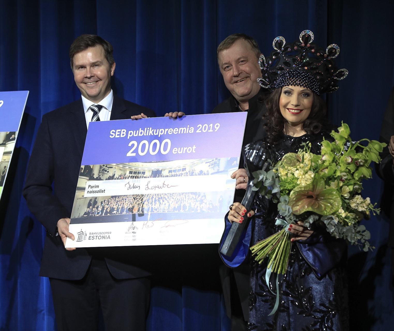 Palju õnne! Rahvusooperi solistid Helen Lokuta ja Rauno Elp said publikupreemia