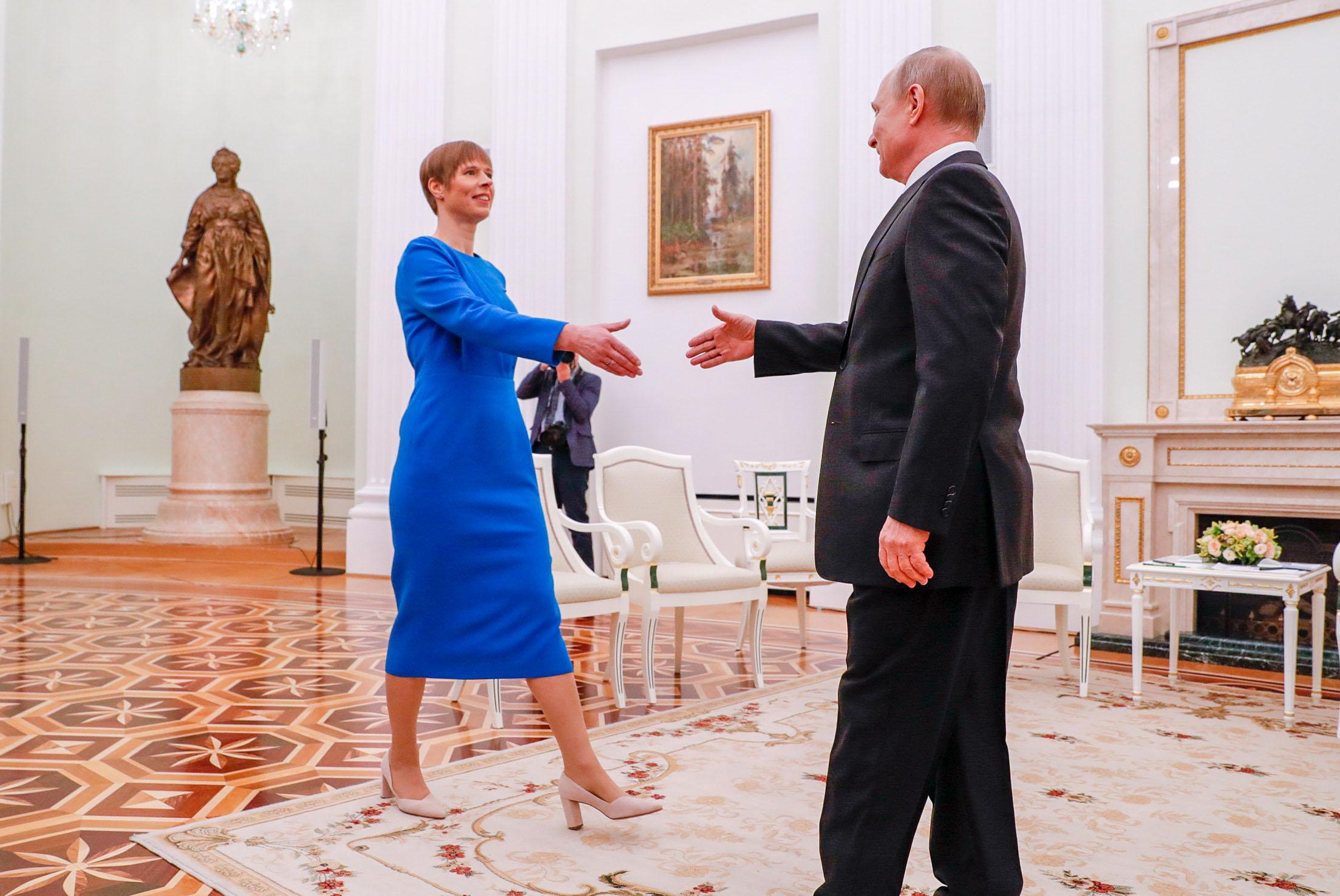 Kersti Kaljulaid ja Vladimir Putin.Stanislav Moshkov