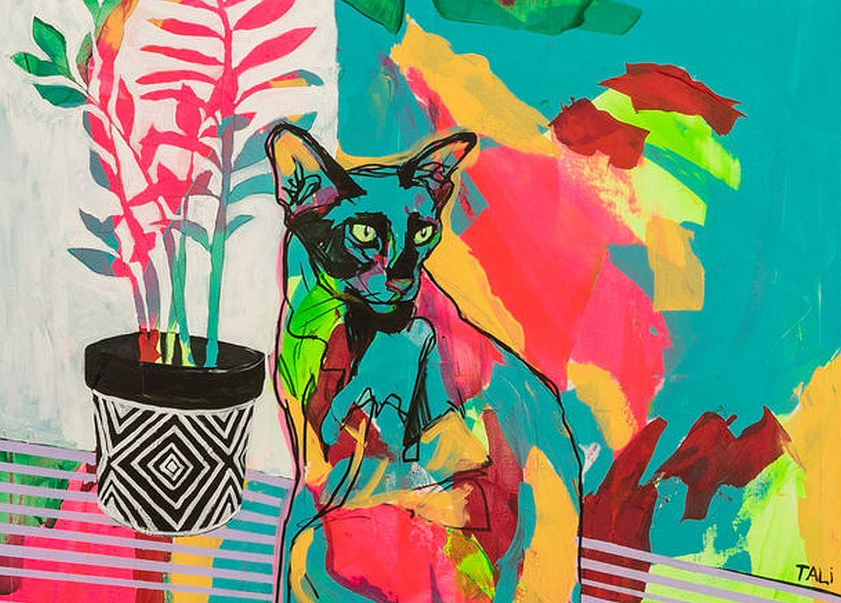 Marika Tali-Must kass lillepotiga