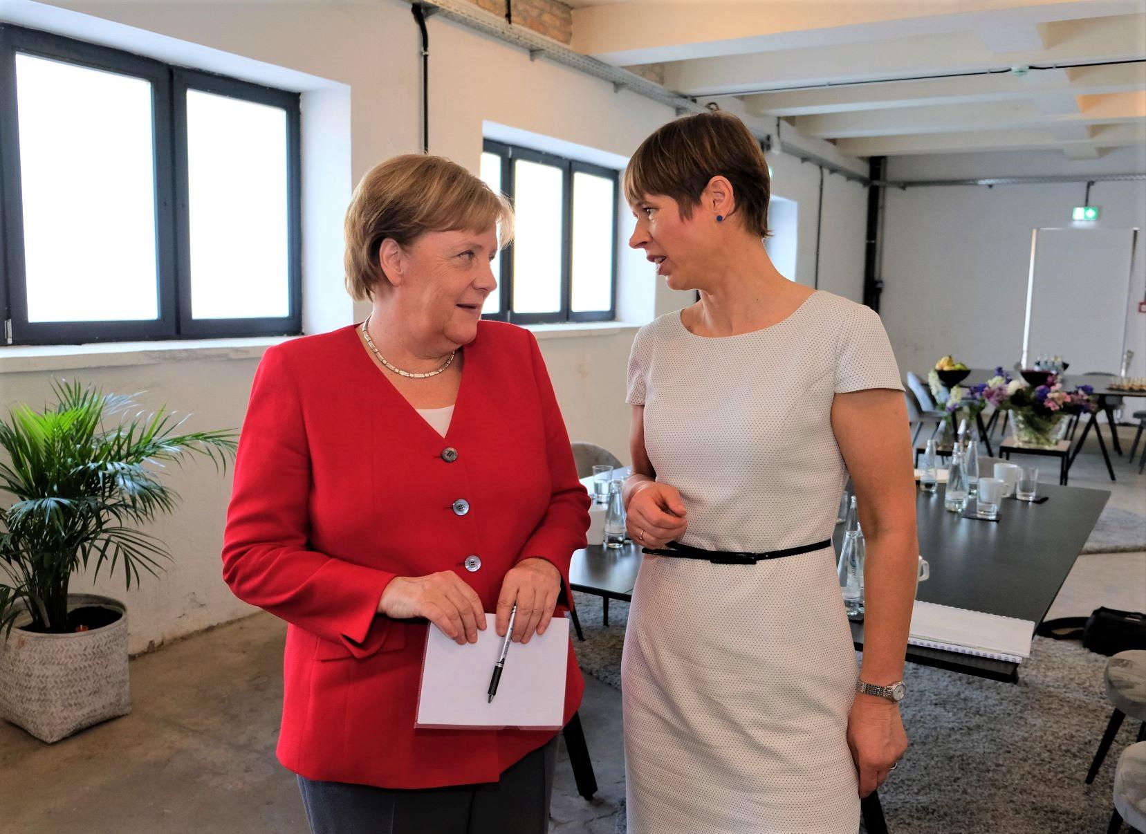 President Kersti Kaljulaid arutas Berliinis Merkeliga digikoostöö võimalusi