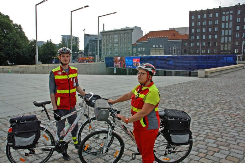 Täna alustas tööd Tallinna kiirabi jalgrattapatrull