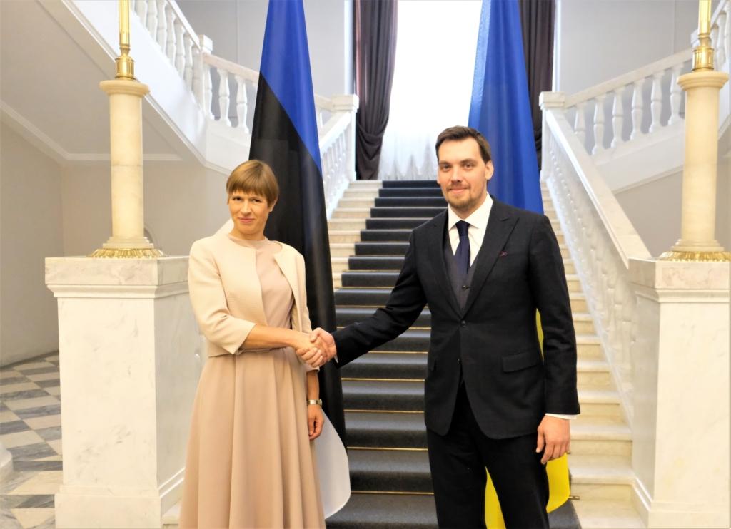 FOTOD I President Kaljulaid kohtus Ukraina peaministriga