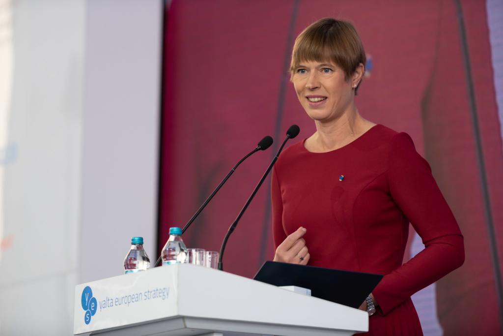 President Kaljulaid Kiievis: Ukrainast võib saada uus edulugu