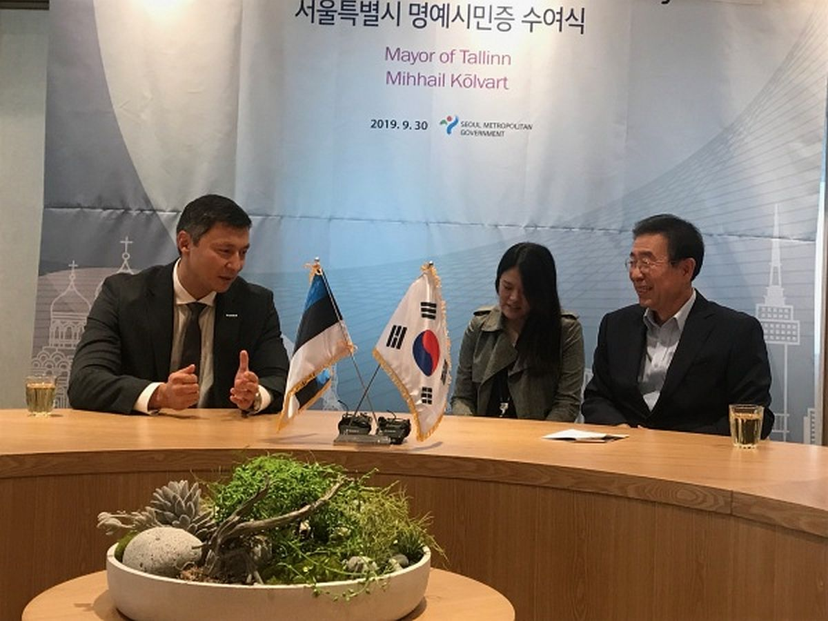 Mihhail Kõlvart kohtub Souli linnapeaga