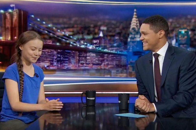 """VIDEO: 16-aastane keskkonnaaktivist kutsuti saatesse """"The Daily Show"""""""
