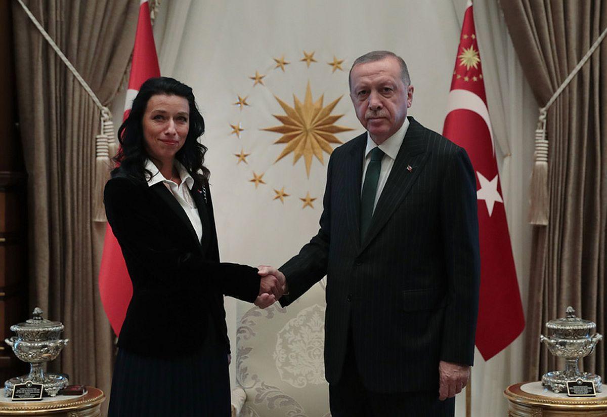 Annely Kolk ja Recep Erdogan