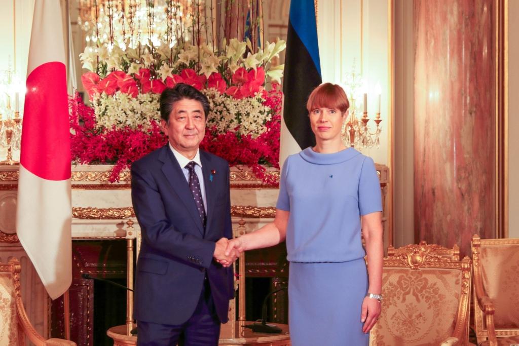 President Kaljulaid arutas Jaapani peaminister Abega võimalusi kahe riigi ettevõtete koostöö hoogustamiseks