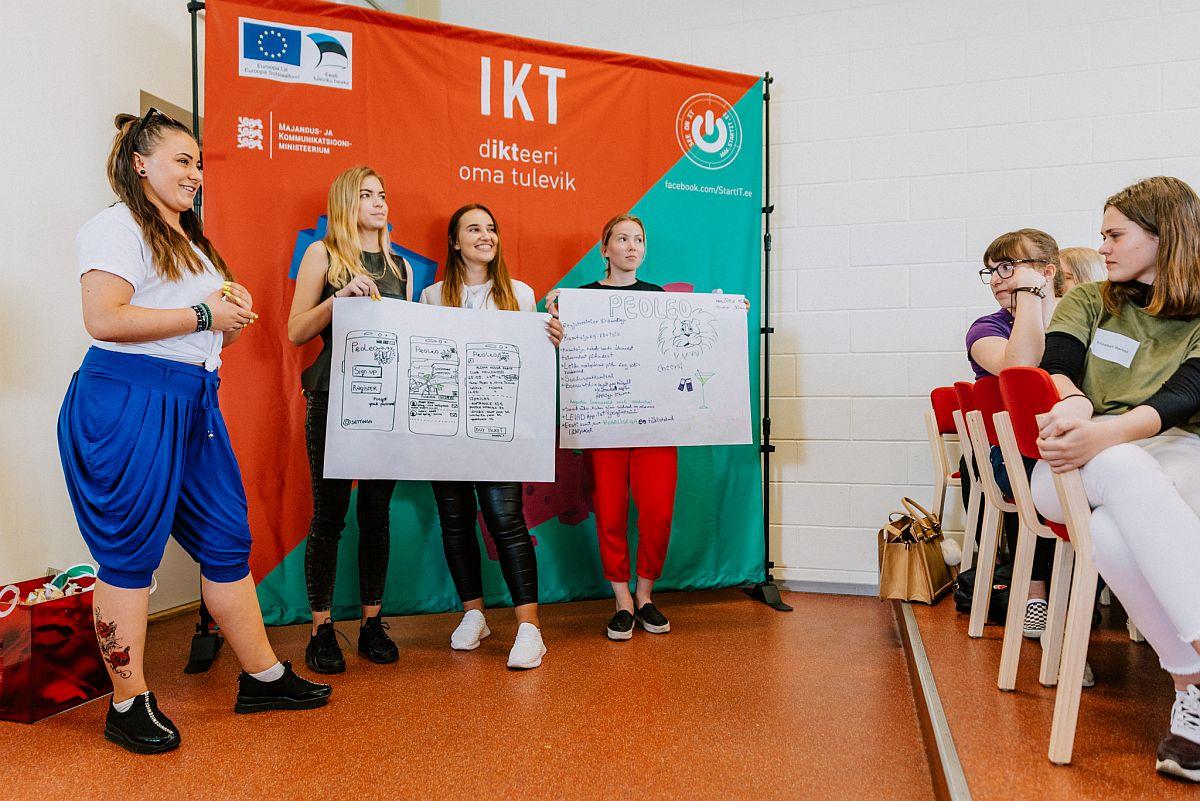 Telia ja Eesti Energia õpetavad Narva koolitüdrukutele digitootedisaini