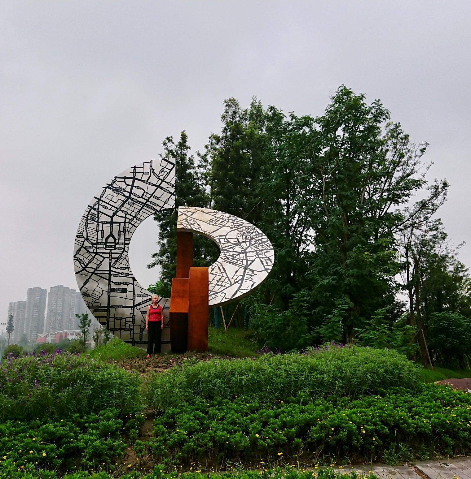 Hiinas Chengdus avati Eesti kunstniku skulptuur