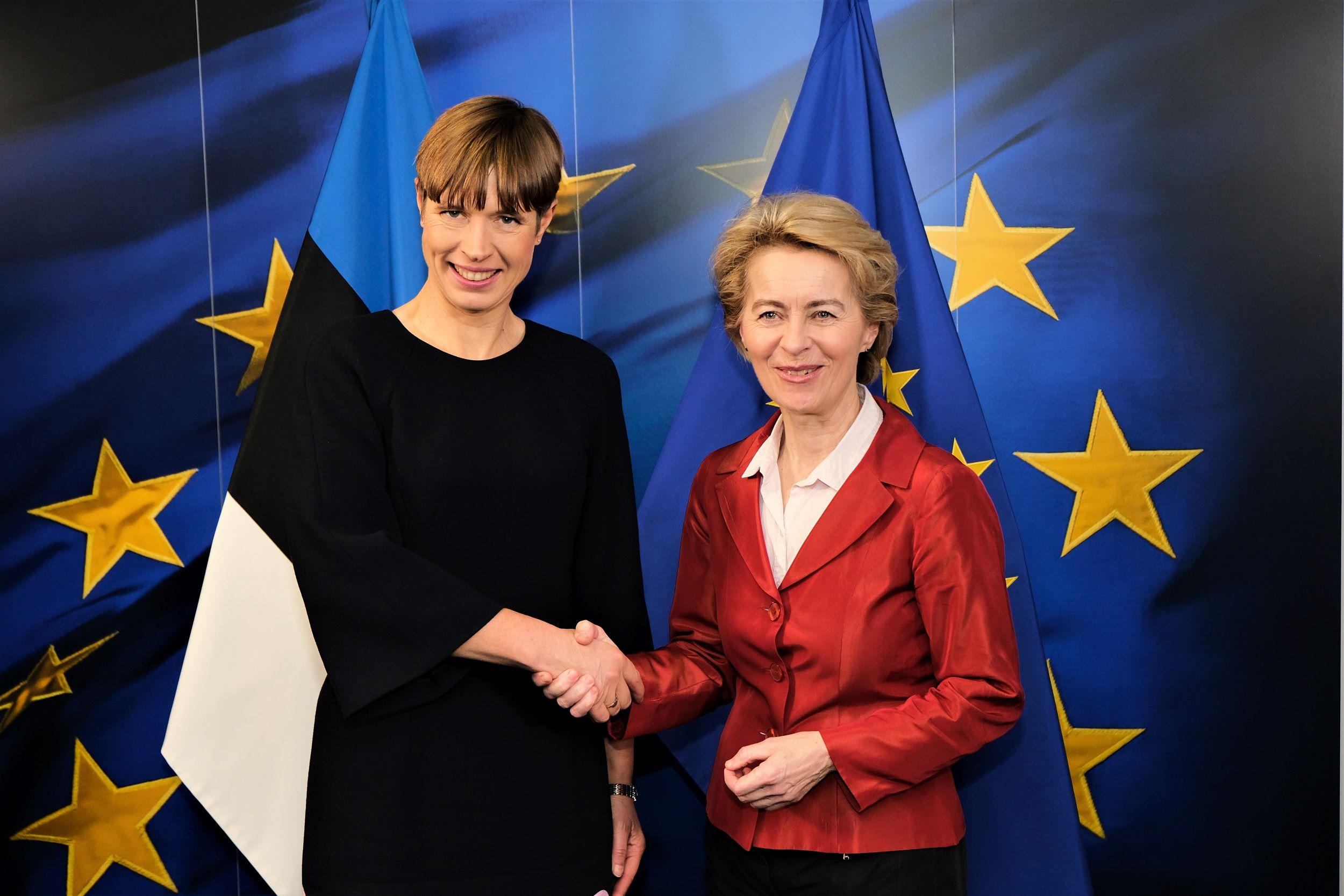 Kersti Kaljulaid ja von der Leyen