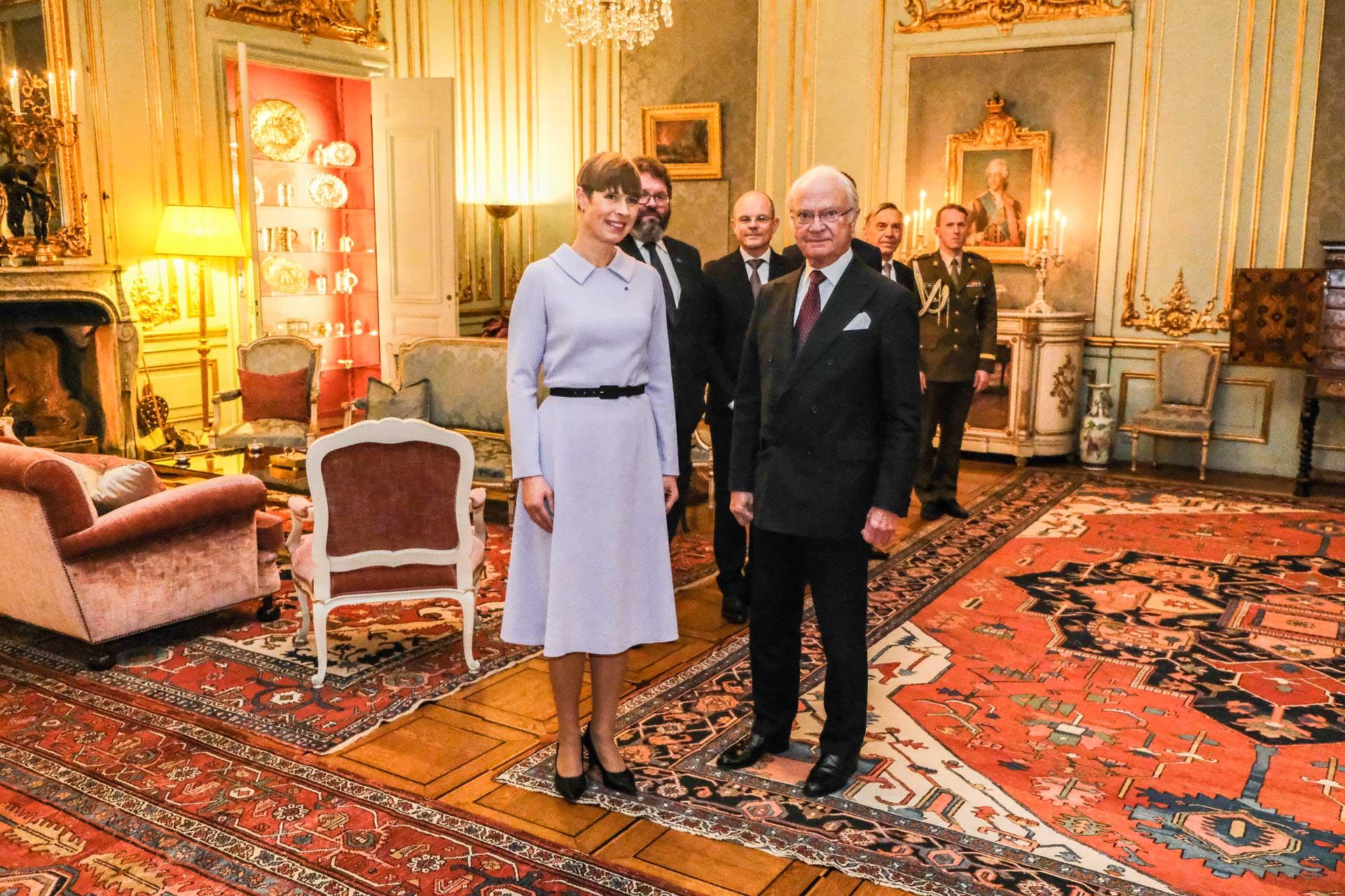 President Kaljulaid kohtus Rootsi kuninga Carl XVI Gustafiga