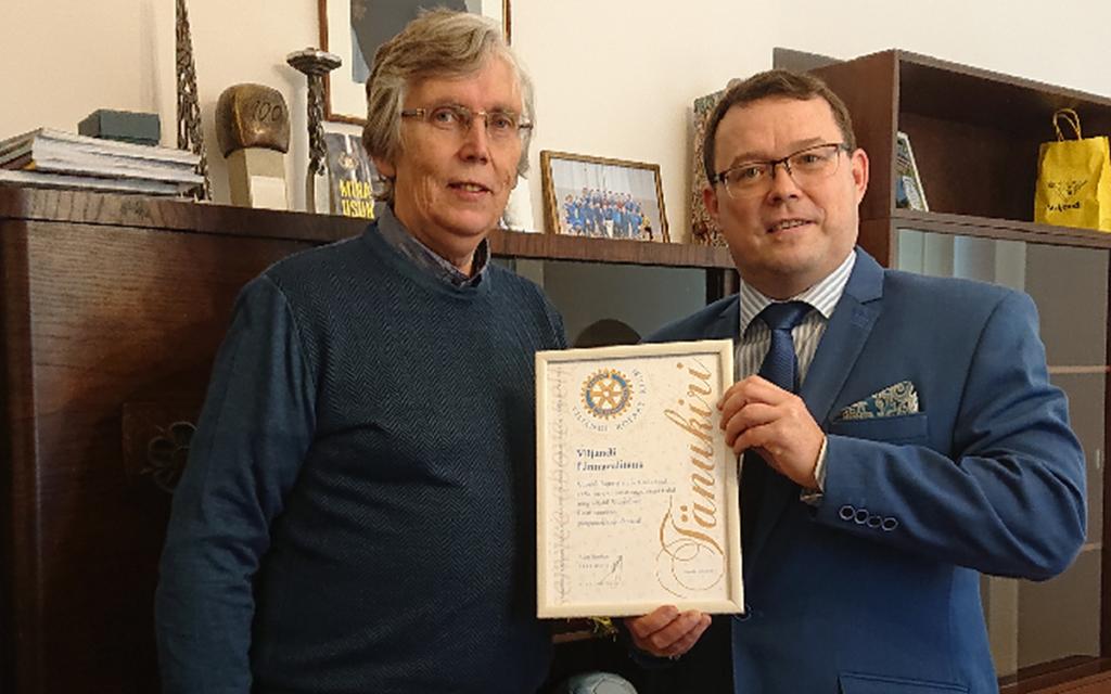 Rotary klubi tänas Viljandi linna