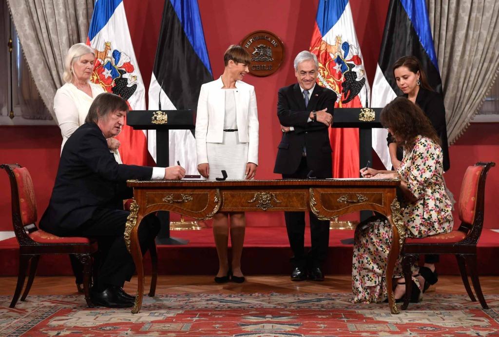 Kersti Kaljulaid ja Sebastián Piñera