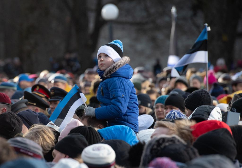 Eesti Vabariigi 102. aastapäeva lipuheiskamise tseremoonia Erik Peinar
