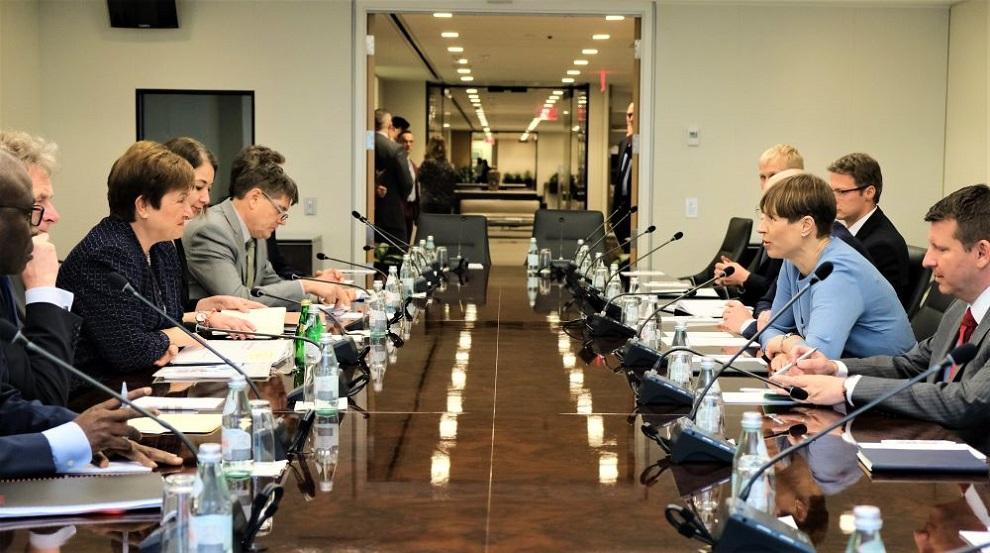 FOTOD I President Kaljulaid kohtus USA rahandusministri ja IMFi juhiga