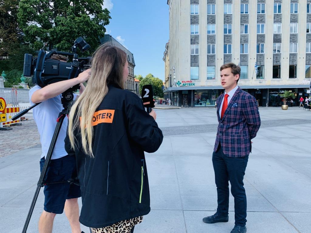 VIDEO I Reporter: Tallinnas korraldatakse Valgevene toetuseks «Balti kett»