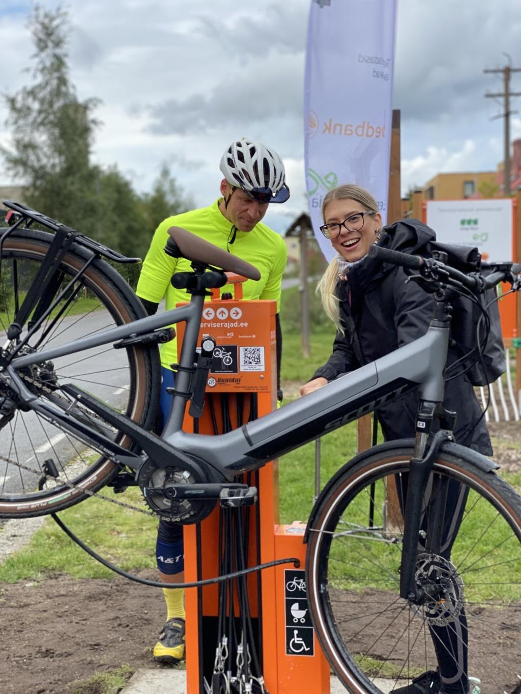 Tallinnasse rajati viis uudset jalgratta remondipunkti