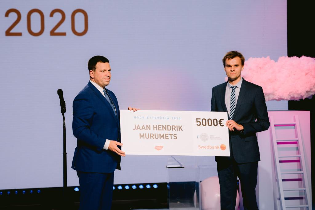 Parimaks nooreks ettevõtjaks kuulutati Jaan Hendrik Murumets