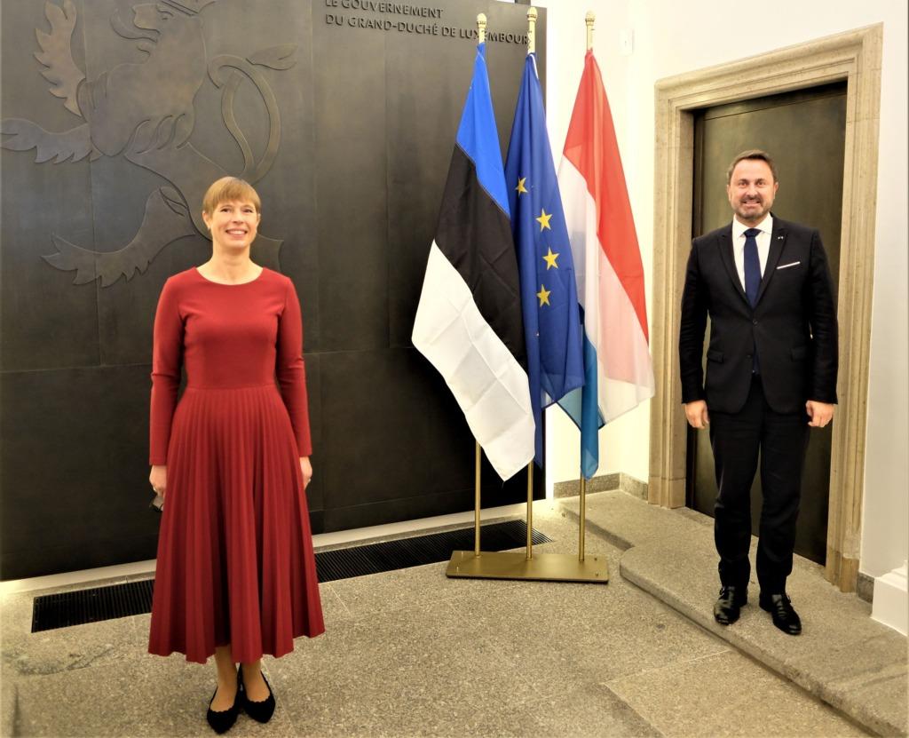 President Kaljulaid kohtus Luksemburgi peaministri Xavier Betteliga