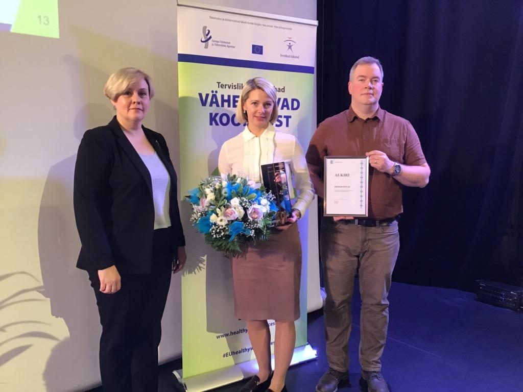 HEA TÖÖKESKKOND I Katri Jürine: see auhind on tunnustuseks kõigile meie töötajatele, kellega koos oleme loonud hea töökeskkonna meie ettevõttes