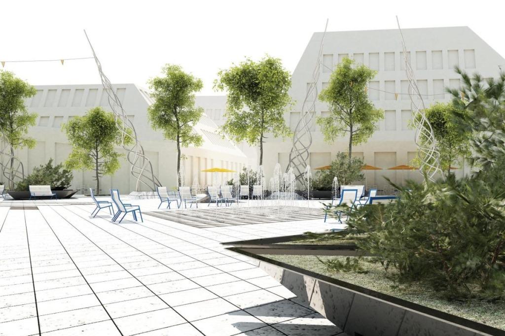 Selgus Jõgeva linnakeskuse arhitektuurivõistluse võidutöö