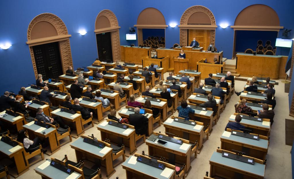 Kaja Kallas Riigikogu ees 25.01.21