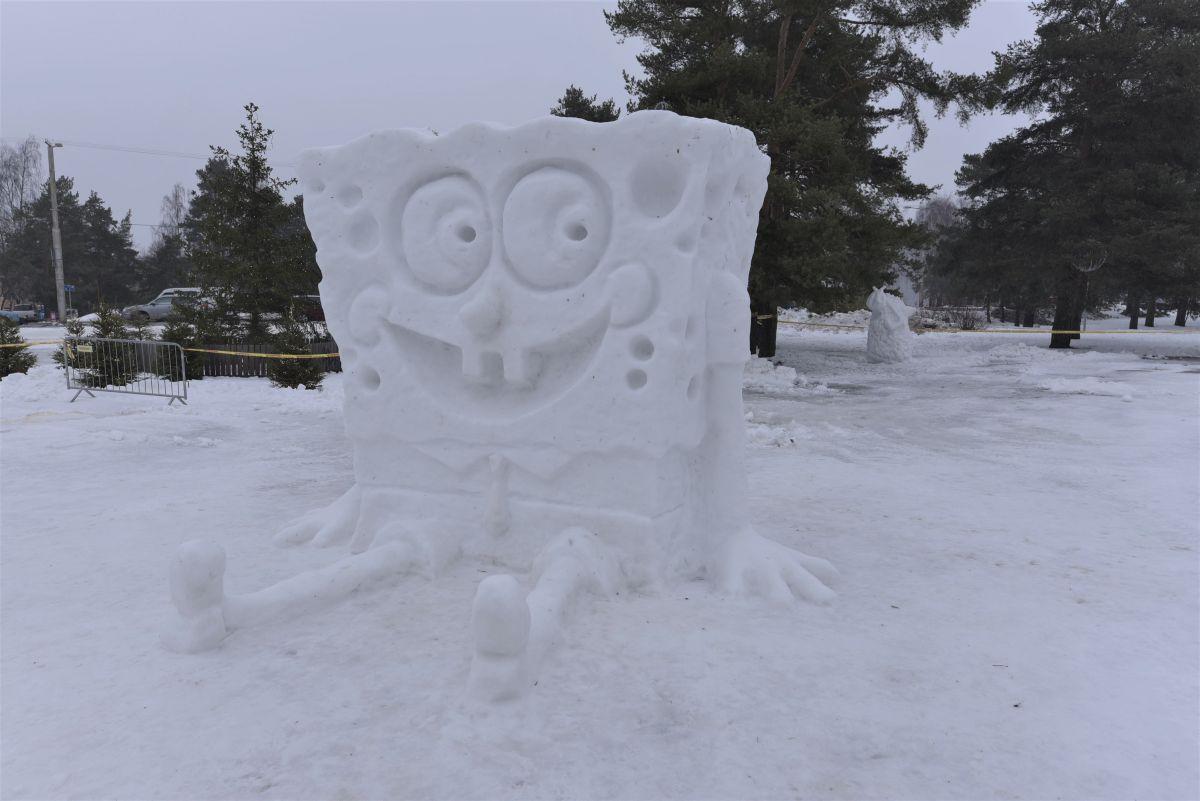 Männi pargi lumelinn Käsnakalle