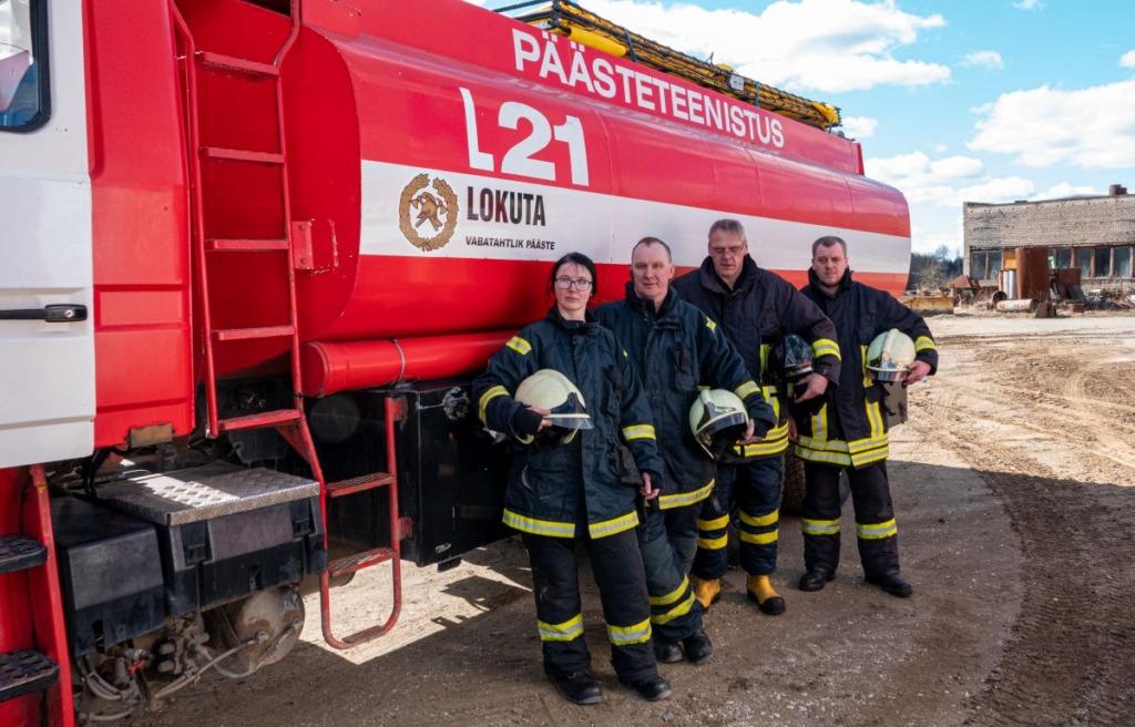 SISEMINISTEERIUMI TUNNUSTUS I Lokuta Vabatahtlik Tuletõrje Selts sai aasta vabatahtliku päästekomando aunimetuse