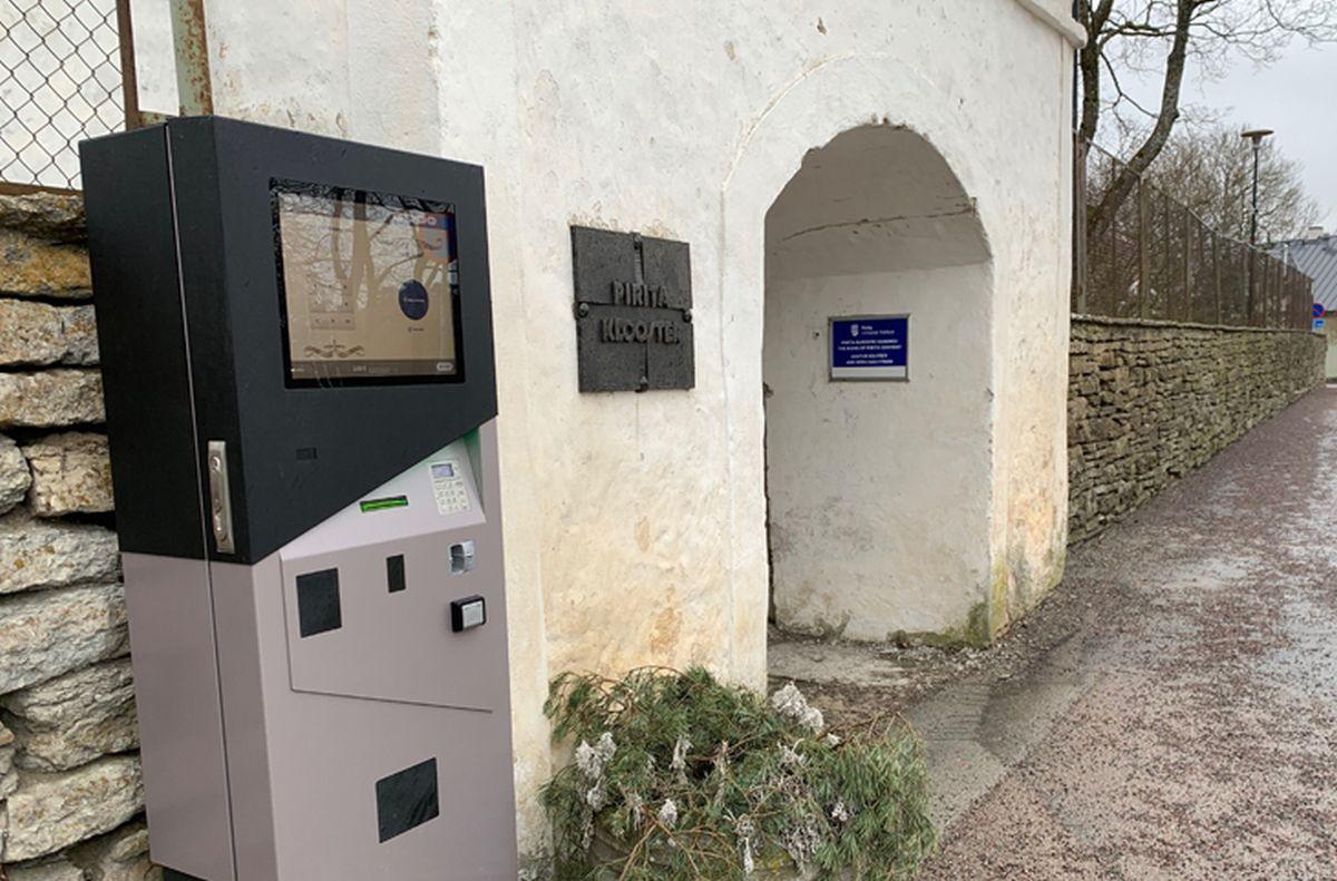 Pirita kloostri varemete väravas hakkas tööle piletimasin