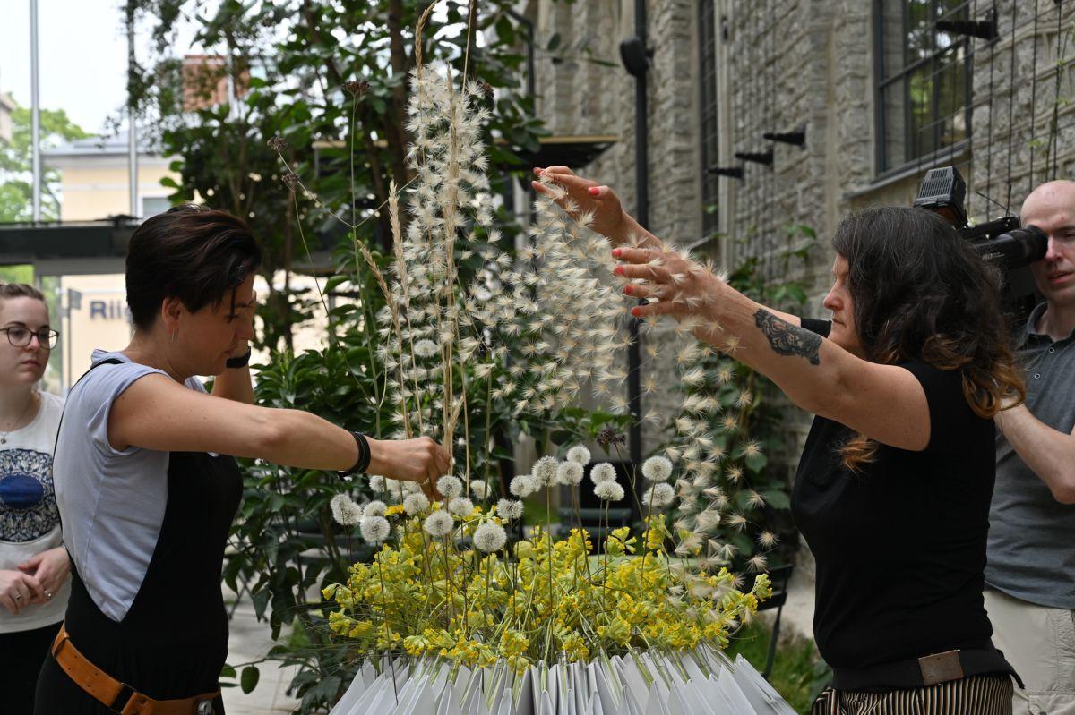 Eesti tippfloristid tegid Fahles lillenäituse