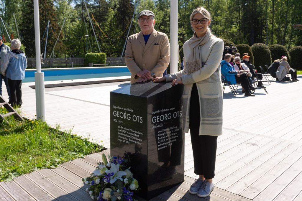 Esimene ujujat tunnustav mälestusmärk pandi Nõmmel Georg Otsale