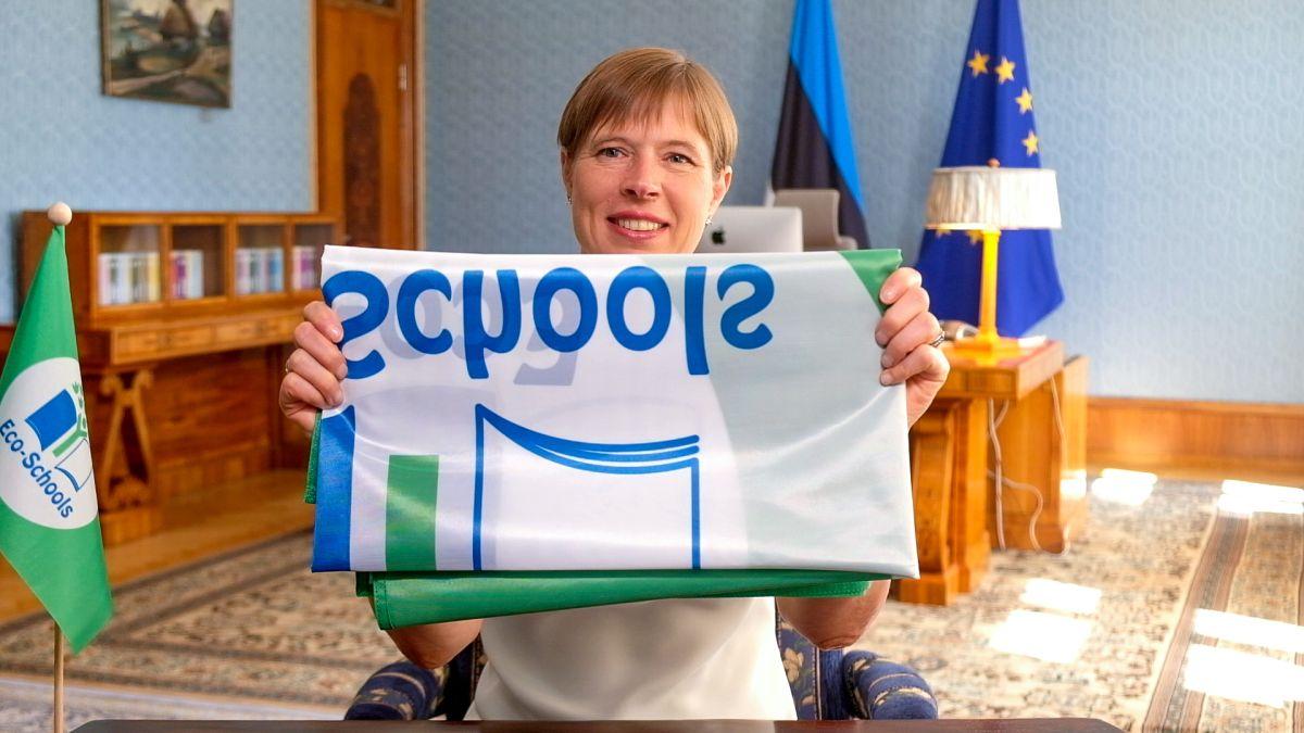 President andis keskkonnateadlikele haridusasutustele rohelise lipu märgise