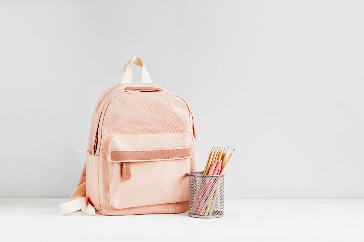 Backpack,With,School,Supplies,For,Study.,Back,To,School,Concept.