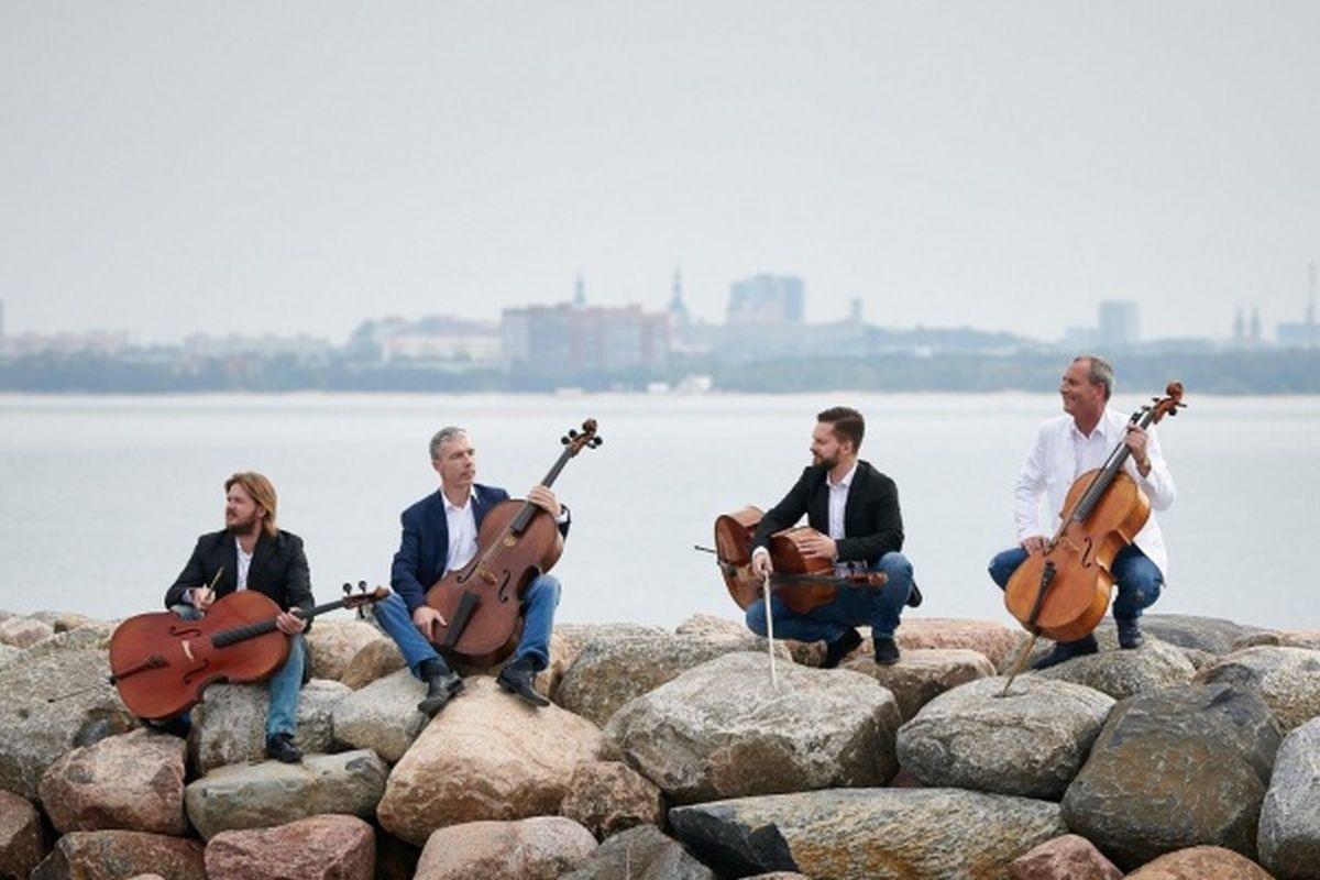 Suvisel kontsertõhtul Õismäe tiigi kaldal astub üles tšellokvartett C-Jam