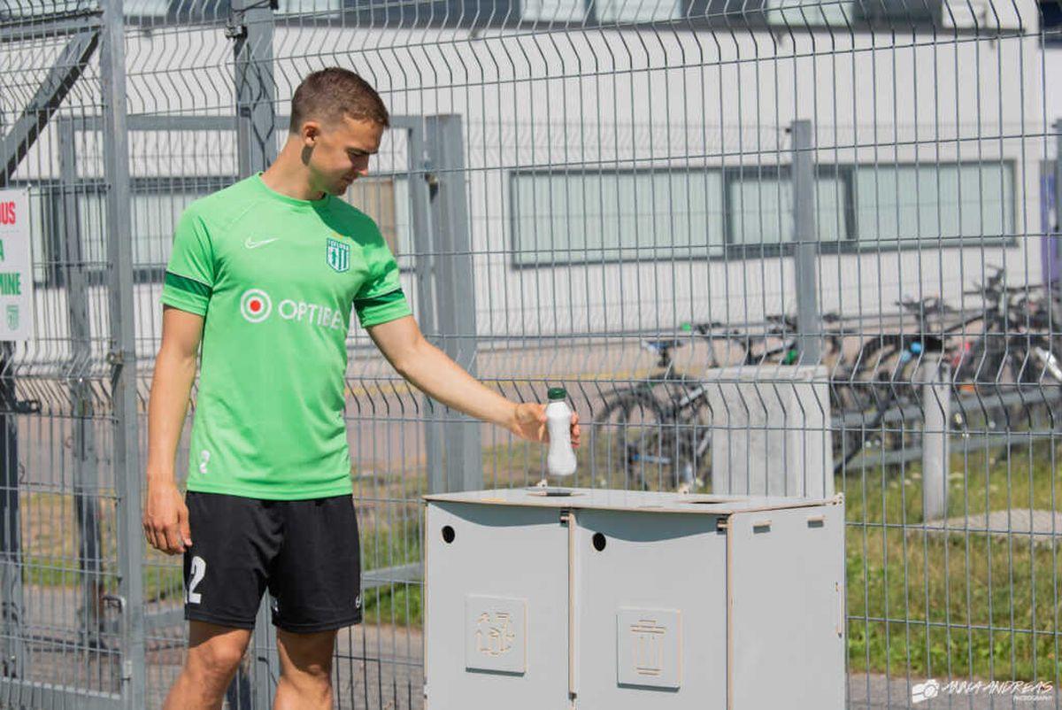 TVO aitab jalgpalliklubil Flora olla jäätmete liigiti kogumisel eeskujuks