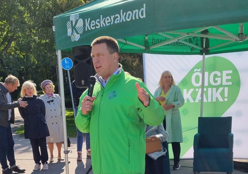 Jüri Ratas on Eesti Keskerakonna esinumber Mustamäel